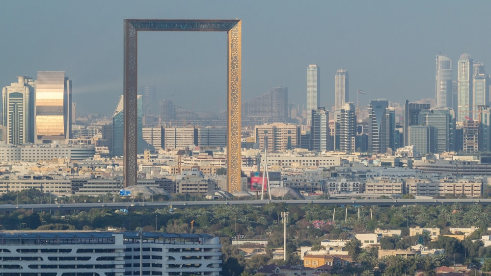 De grote fotolijst in Dubai