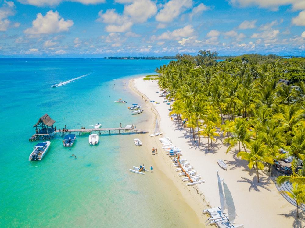 Witte stranden op Mauritius