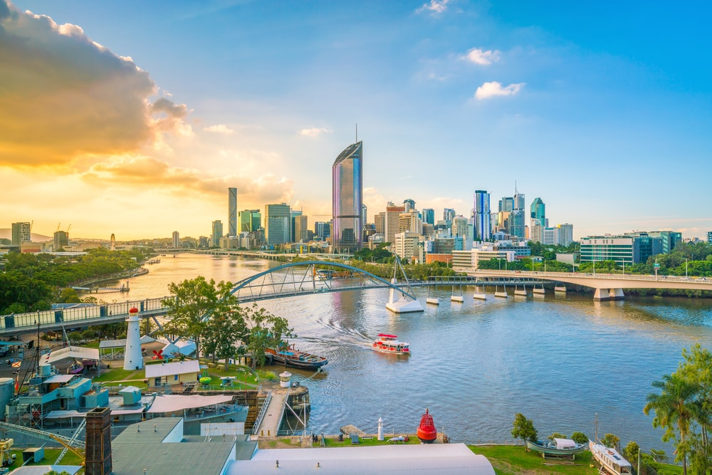 Bezoek de moderne stad Brisbane