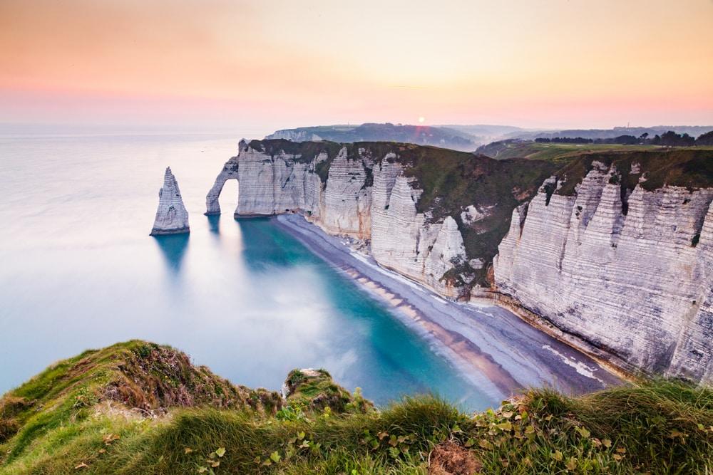 Wandel langs de kust van Etretat voor een prachtig uitzicht