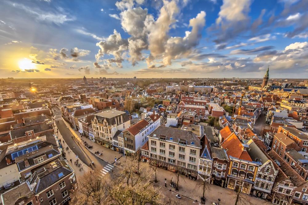 De gezellige stad Groningen