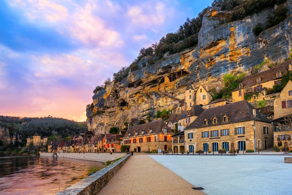 Het knusse dorpje van Dordogne