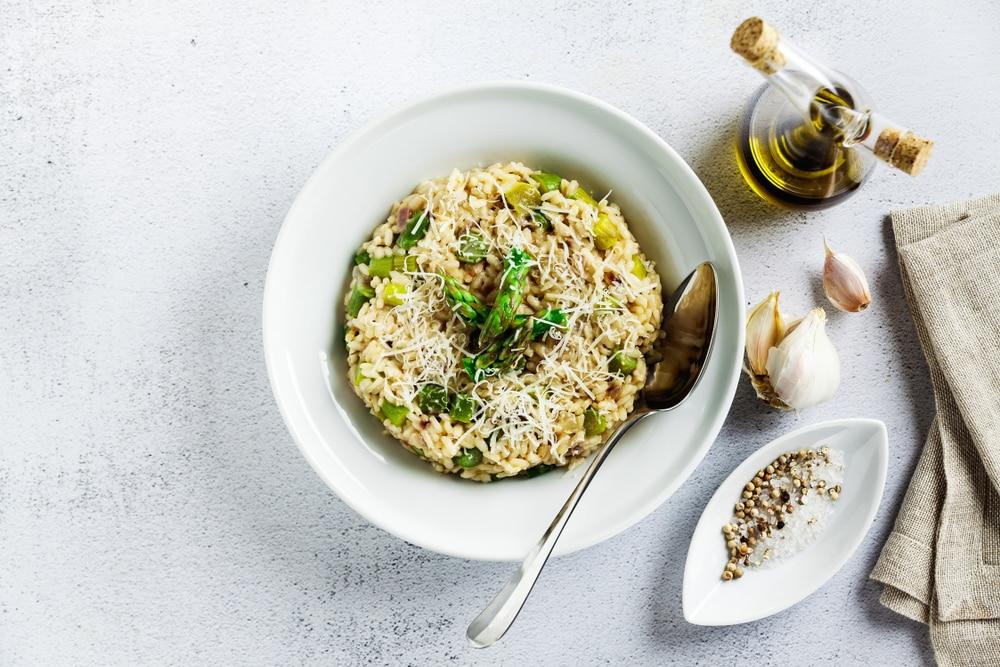 Probeer de vegetarische risotto met asperges
