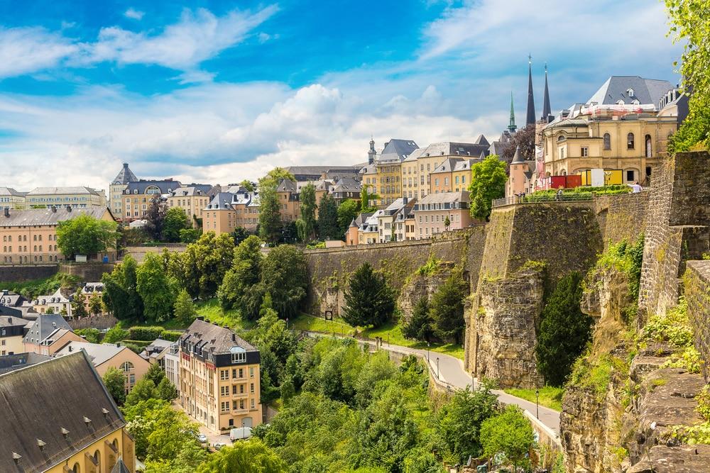 Het prachtige uitzicht over Luxemburg stad