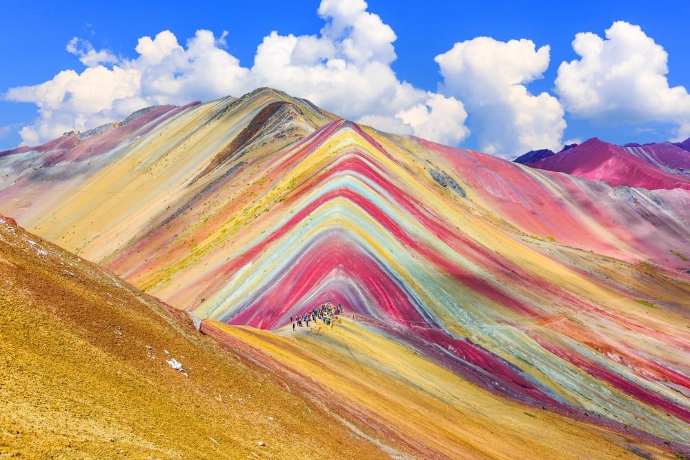 De regenboogberg in Peru
