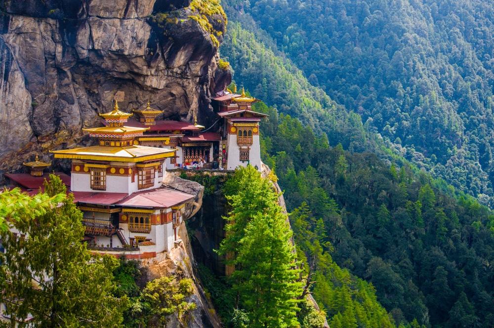 Klim naar het klooster Taktsang Lhakang