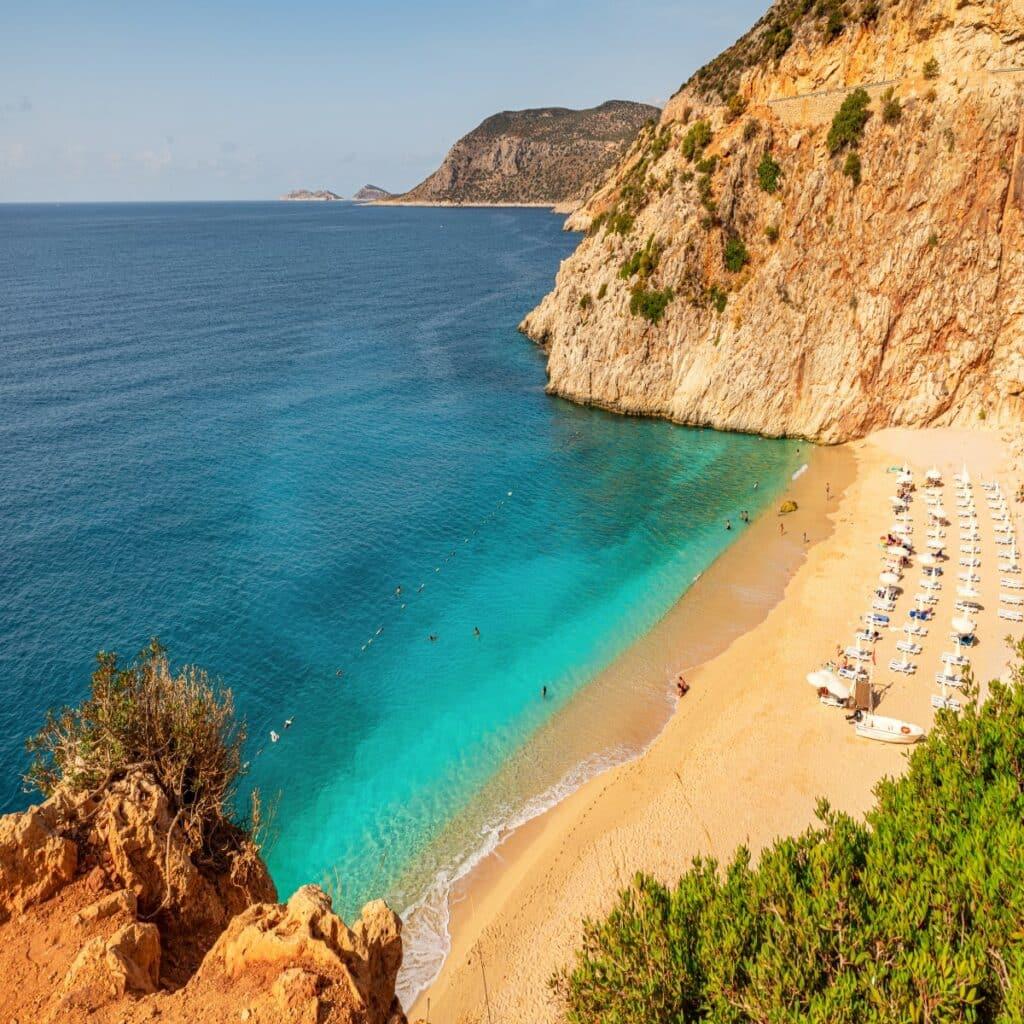 Kaputas beach tussen badplaatsen Kas en Kalkan