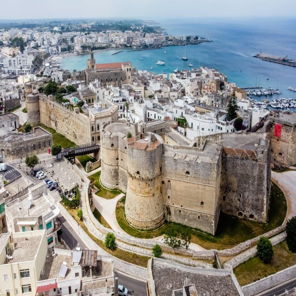 Het kasteel Castello Aragonese in Otranto