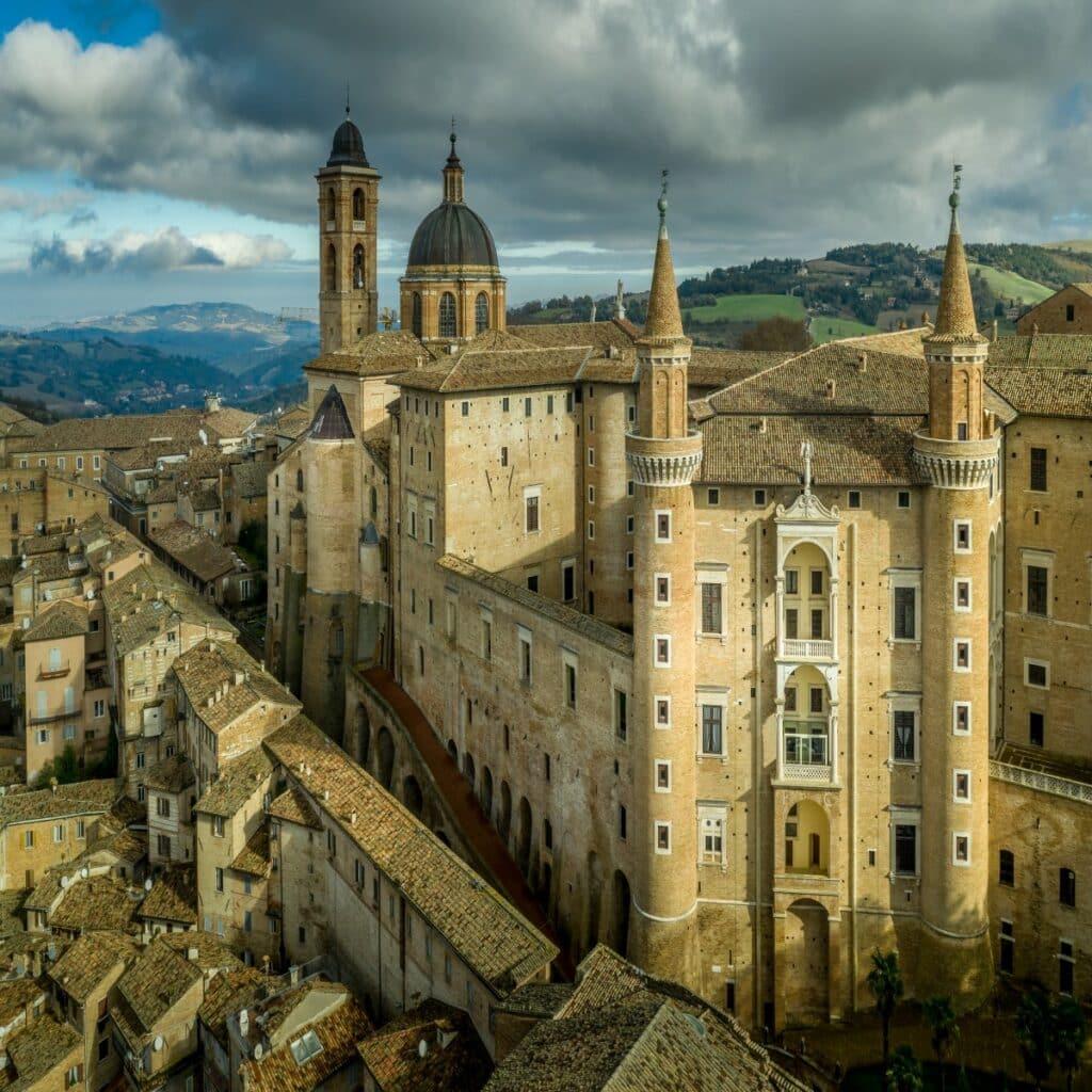 Het Palazzo Ducale in Urbino