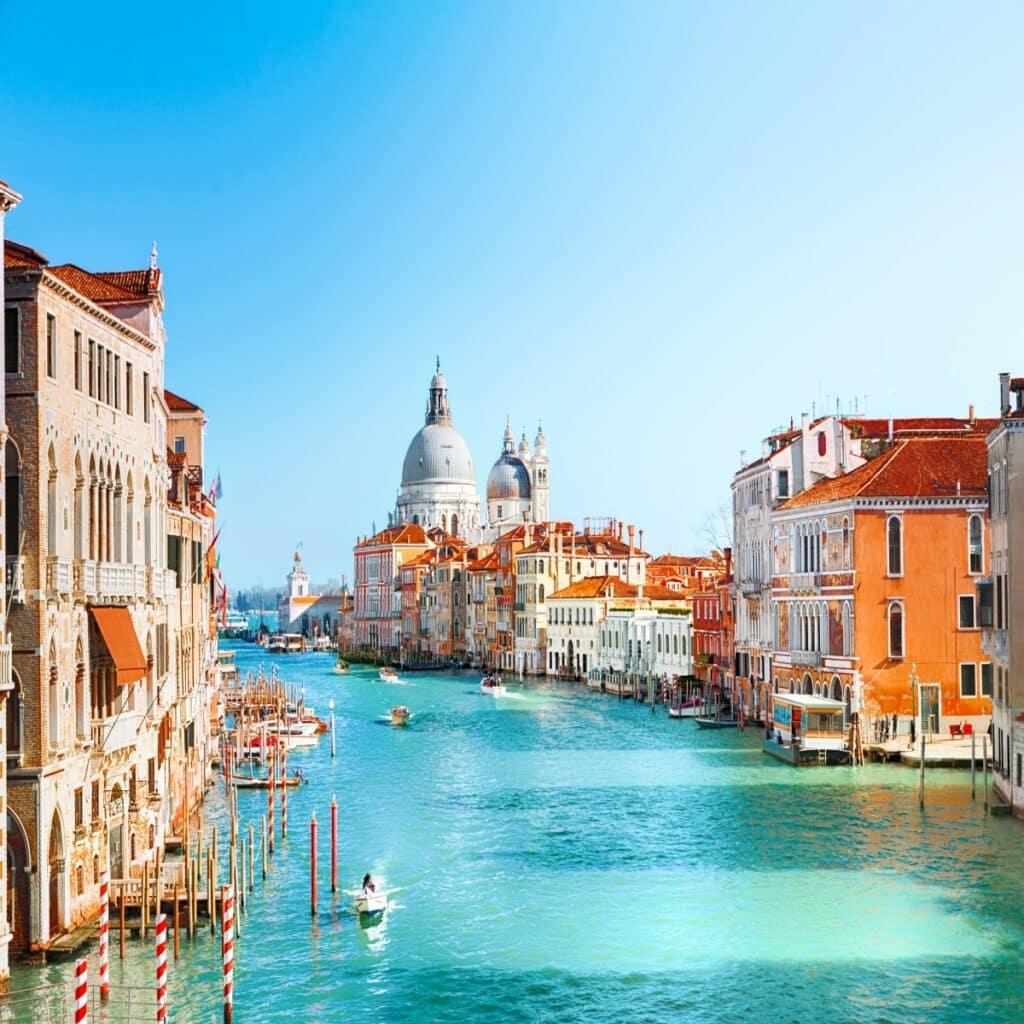 De stad Venetië in Italië