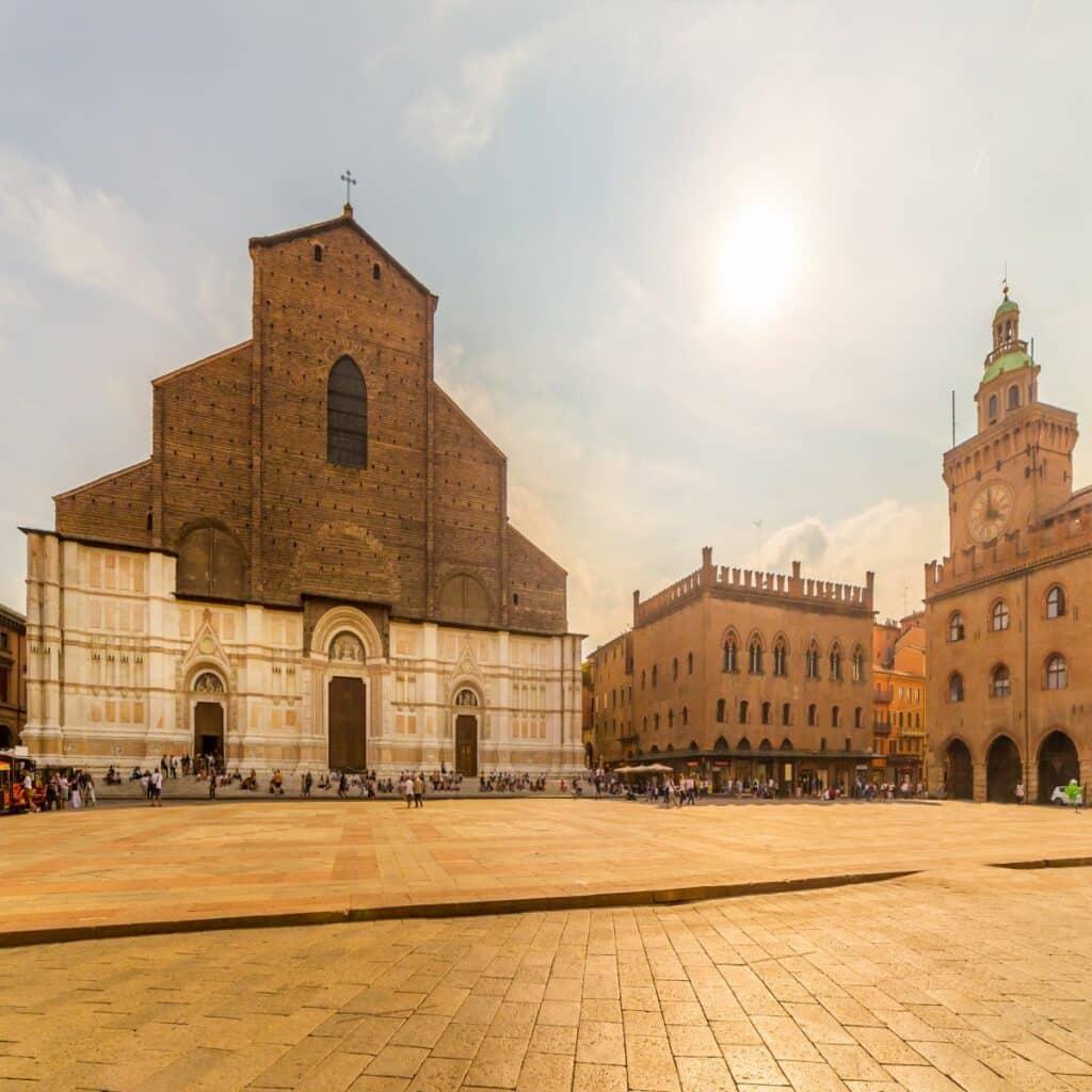 De kerk San Petronio in Bologna