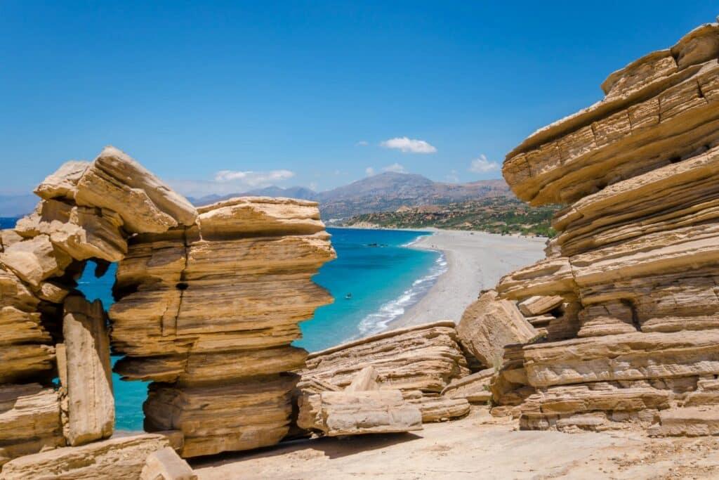 Triopetra beach in Kreta