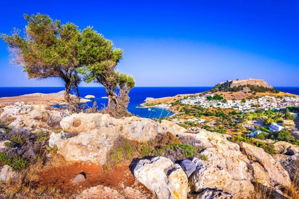 een uitzicht punt in Rhodos