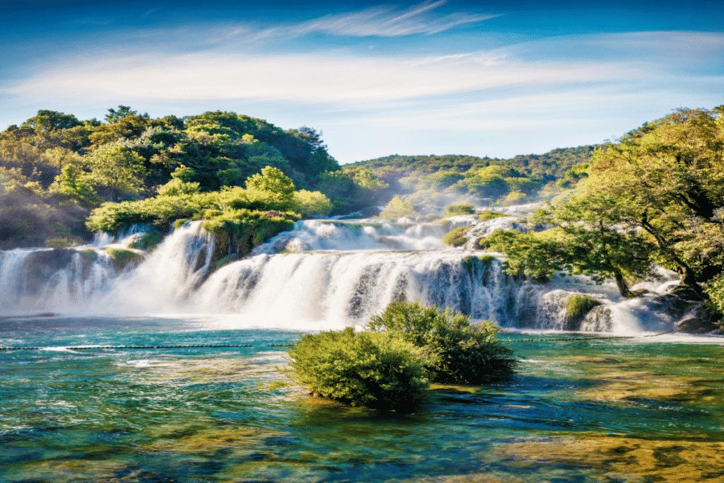 Skradinski buk waterval in Kroatië