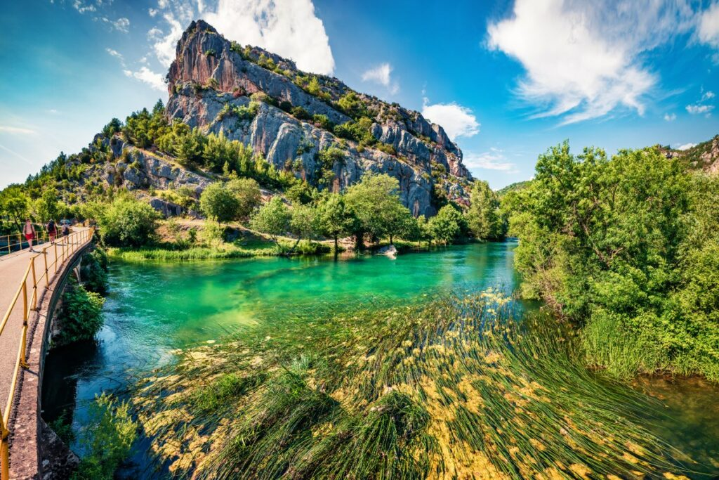 Het Krka National Park in Kroatië