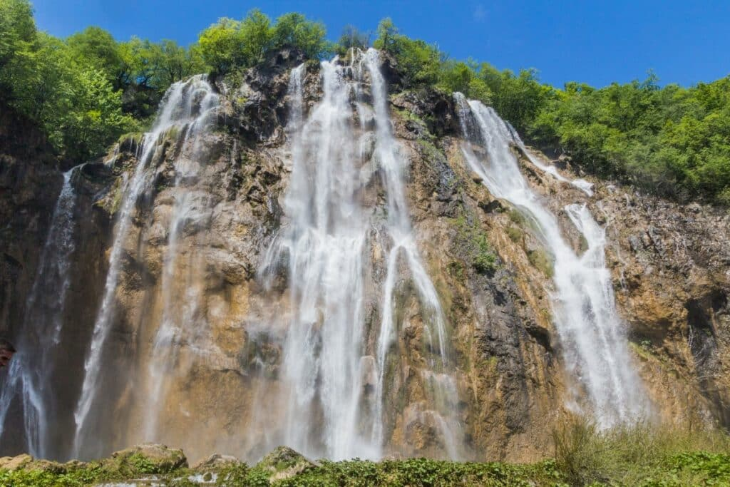 De Grote Waterval Veliki slap in Kroatië